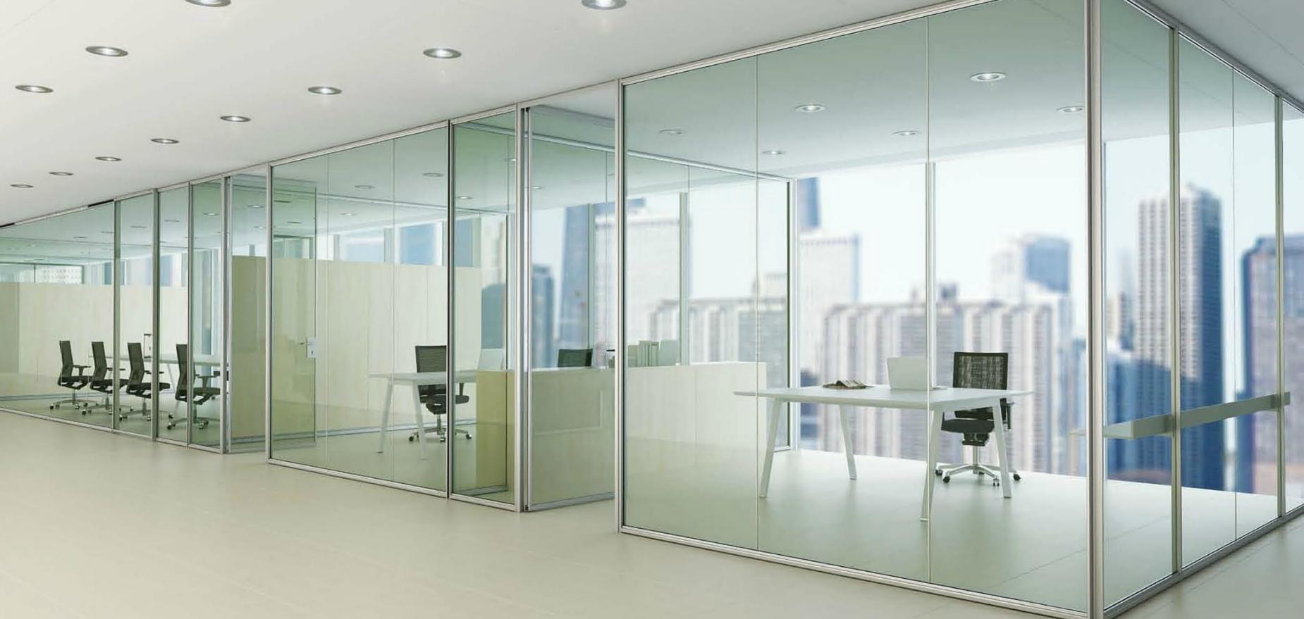 Mamparas de oficina tecnisal for Espacios para oficinas
